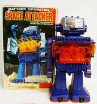 Robot - Battery Operated Walking Robot - Space Attacker - Horikawa (S.H.)