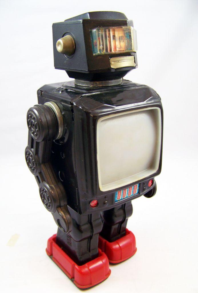 Robot - Robot Marcheur à Pile en Tôle - Space Explorer - Horikawa (S.H.) 02