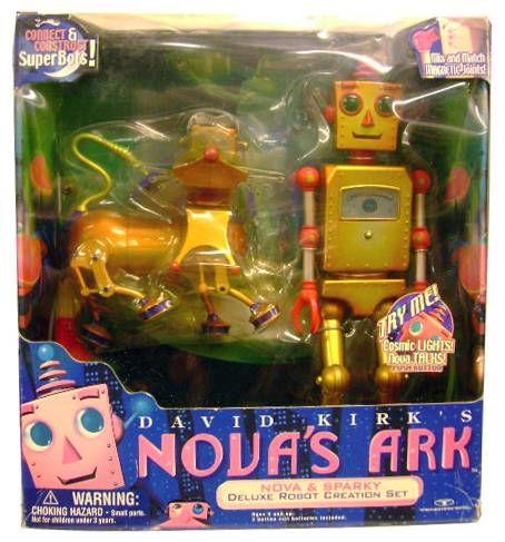 Robot - Electronic Light & Sound Robot - Nova & Sparky (David KIRK\'s Nova Ark) Trendmasters