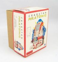 Robot - Mechanical Walking Tin Robot - Cragstan Mr. Atomic (Ha Ha Toy) Blue