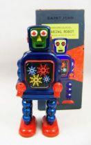 Robot - Robot Marcheur Mécanique en Tôle - Gearing Robot (St.John Tin Toy) 01
