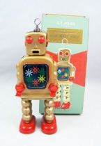 Robot - Robot Marcheur Mécanique en Tôle - High Wheel Robot (St.John Tin Toy) 01