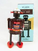 Robot - Mechanical Walking Tin Robot - M-65 Robot (St.John Tin Toy)