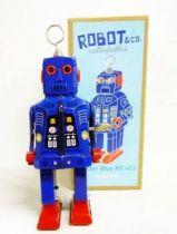 Robot - Mechanical Walking Tin Robot - Mister Blue MS 403 (ImageGifts)