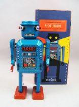 Robot - Robot Marcheur M�canique en T�le - R-35 Robot (St.John Tin Toy) 01