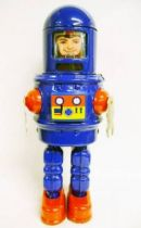 Robot - Mechanical Walking Tin Robot - Robby Robot \'\'Human Face\'\' (sparkling)
