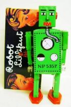 Robot - Mechanical Walking Tin Robot - Robot Lilliput (Q.S.H.) green