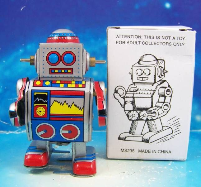 Robot - Mechanical Walking Tin Robot - Robot Minus