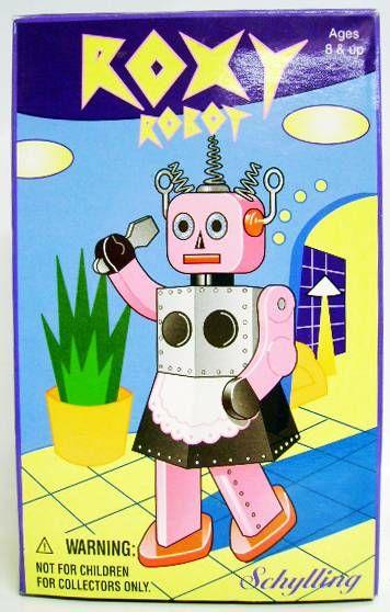 Robot - Mechanical Walking Tin Robot - Roxy Robot (Schylling Toys)