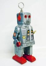 Robot - Mechanical Walking Tin Robot - Space Robot (sparkling) silver