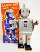 Robot - Mechanical Walking Tin Robot - Sparkling \'\'Mike\'\' (Schylling)