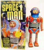 Robot - Mechanical Walking Tin Robot - The Adventure of Space Man (Schylling Toys)