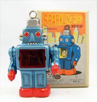 Robot - Mechanical Walking Tin Robot Card Holder (sparkling) Yonezawa