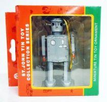 Robot - Miniature Tin Robot Ornament - Atomic Robot Man (St.John Tin Toy) grey