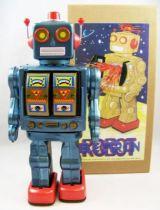 Robot - Robot Marcheur à Pile en Tôle - Electron Robot (bleu) 01