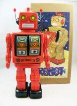 Robot - Robot Marcheur à Pile en Tôle - Electron Robot (rouge) 01