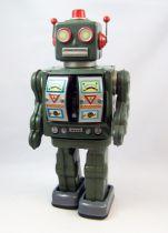 Robot - Robot Marcheur à Pile en Tôle - Star Rider (Horikawa Japon) Ré-édition