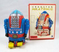 Robot - Robot Marcheur Mécanique en Tôle - Cragstan Mr. Atomic (Ha Ha Toy) Bleu
