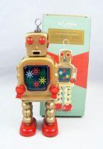 Robot - Robot Marcheur Mécanique en Tôle - High Wheel Robot (St.John Tin Toy) 01