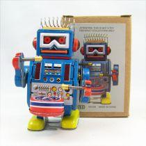 Robot - Robot Marcheur Mécanique en Tôle - Robot Tambour (N.R.)