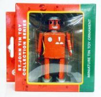 Robot - Robot Miniature d\'Ornement en Tôle - Atomic Robot Man (St.John Tin Toy) rouge