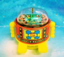 Robot - Rolling Robot - Roulette Robot (red & yellow)