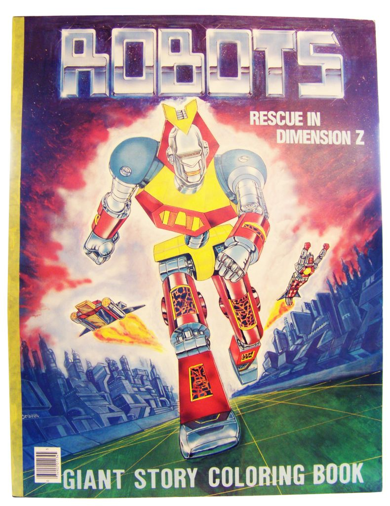 Robots - Giant Story Coloring Book - Rescue in Dimension Z (Stoneway Ltd 1984)