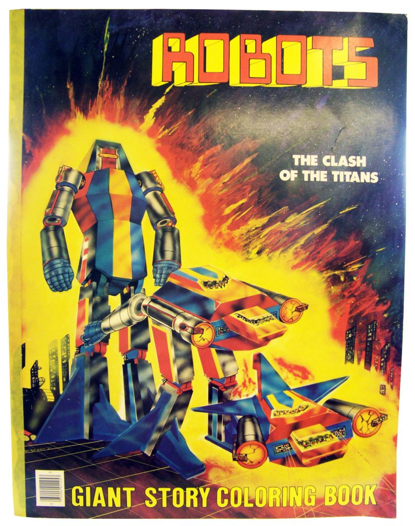Robots - Giant Story Coloring Book - The Clash of the Titans (Stoneway Ltd 1984)
