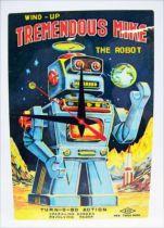 Robots - Horloge Murale Illustration Robots Vintage - Tremendous Mike (Wind-Up) 01