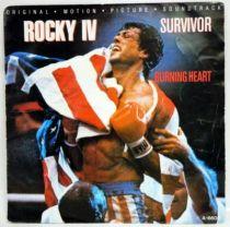 Rocky IV (Original Motion Picture Soundtrack) - Record Mini-LP - Survivor : Burning Heart - CBS Records 1985