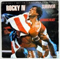 Rocky IV (Original Motion Picture Soundtrack) - Record Mini-LP - Survivor : Burning Heart - CBS Records 1985
