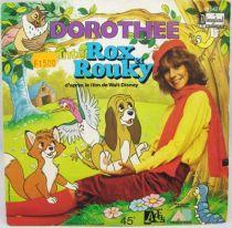 Rox et Rouky  Disney Dimanche - Disque 45T - Générique par Dorothée - Disque Ades 1981