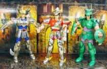 Saint Seiya - Bandai - Heavy Metal Saint Cloth - Set complet : Seiya, Shiryu, Hyoga (loose)