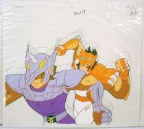 Saint Seiya - Celluloïde original Toei Animation - Ban du Lionet vs Jabu de la Licorne