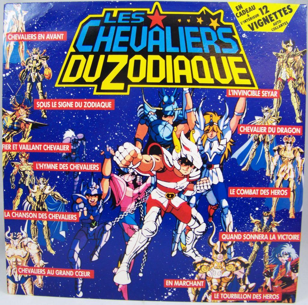 Les Chevaliers du Zodiaque - Disque 33T - Bande Originale du feuilleton Tv - Disques PolyGram AB Kid 1988 01