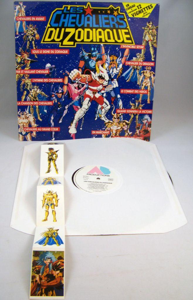 Les Chevaliers du Zodiaque - Disque 33T - Bande Originale du feuilleton Tv - Disques PolyGram AB Kid 1988 03