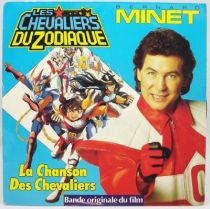 Les Chevaliers du Zodiaque - Disque 45Tours - La Chanson des Chevaliers (Bernard Minet) - AB Kid 1988