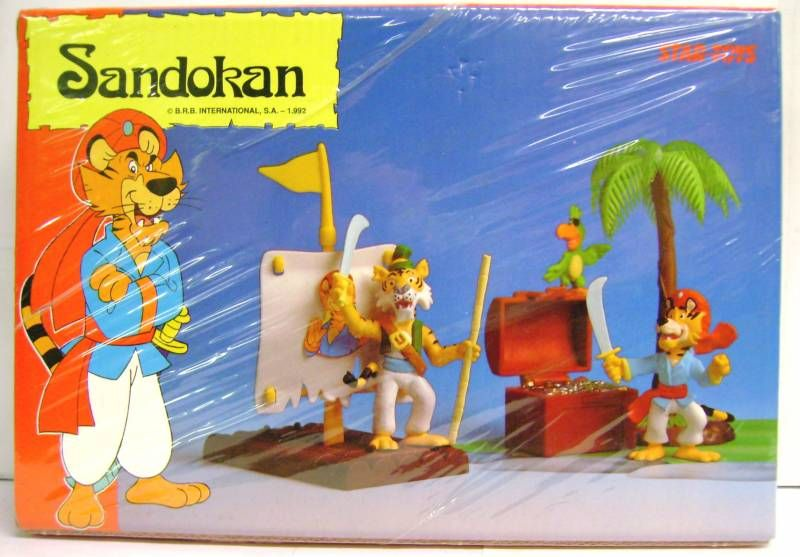 Sandokan - Star Toys Accessories &  PVC figures set