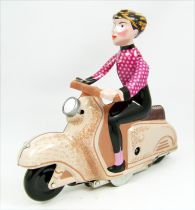 Scooter - Tin Toy Wind-Up - Scooter Girl Pink (Clock Work)