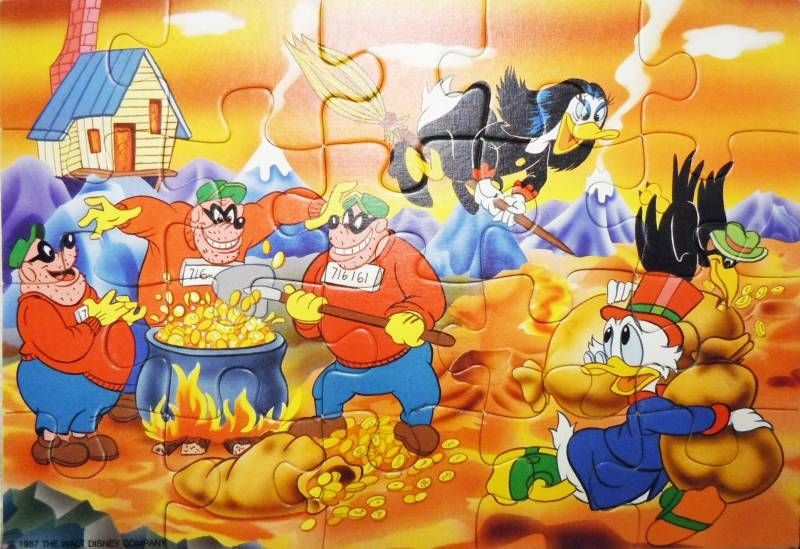 Scrooge - Puzzle 2x20 pieces - Duck Tales (Ravensburger ref.08-992-5)