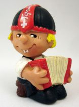 Seppli the Swiss Boy - Schleich PVC Figure - Seppli playing accordion