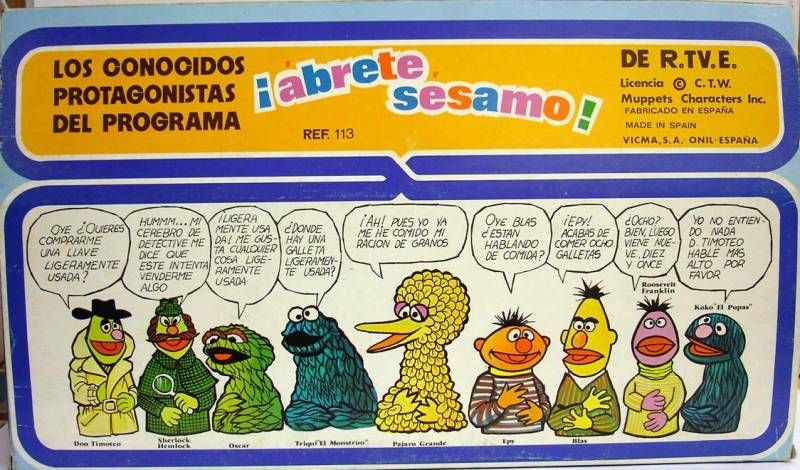 Sesame Street - Vicma - Finger Puppet boxed Set of 5