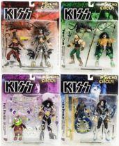 Set of 4 McFarlane KISS Psycho Circus figures