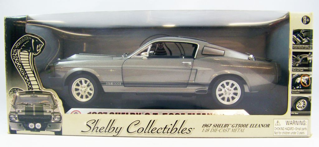 shelby collectibles 1967 shelby gt500e eleanor 1 18 scale. Black Bedroom Furniture Sets. Home Design Ideas