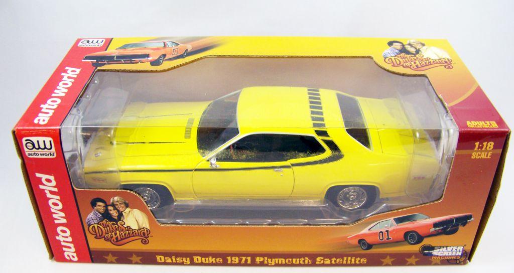 Sherif fais moi peur! - Auto World - Daisy Duke 1971 Plymouth Satellite 1:18 diecast