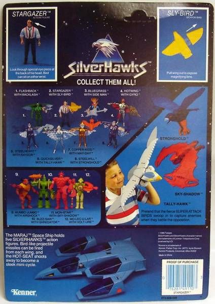 Silverhawks - Stargazer & Sly-Bird (Blue card)