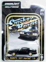 Smokey and the Bandit - Bandit\'s 1977 Pontiac (métal 1:64ème) - Greenlight Hollywood