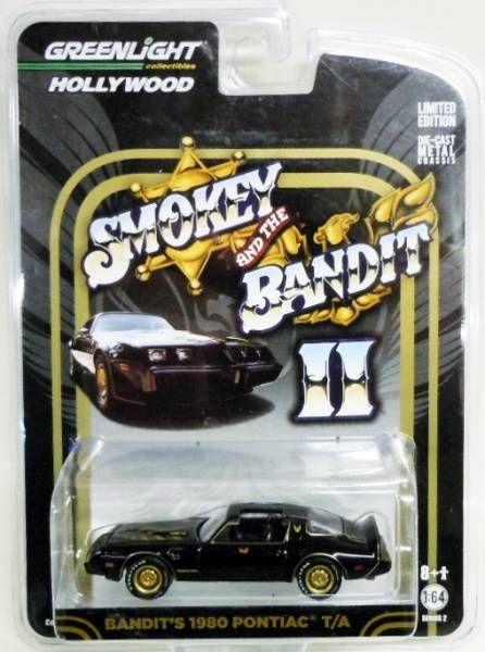 Smokey and the Bandit - Bandit\'s 1980 Pontiac T/A (metal 1:64ème) - Greenlight Hollywood