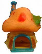 Smurf Loose big yellow & orange house Comics no toxico Spain