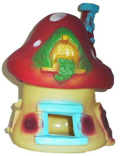 Smurf Loose big yellow & red house Comics no toxico Spain